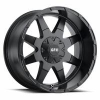"""17"""" G-FX TR-12 Matte Black Wheel 17x9 6x135/6x5.5 0mm Truck Rim"""