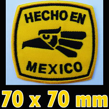 HECHO EN MEXICO Iron On Patch Made In Mexico Eagle Mexican Pride Jackets shirt