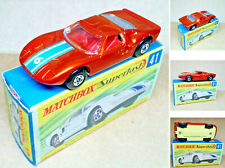 """1 VINTAGE ('70s) MATCHBOX SUPERFAST - NO.41 - """"FORD GT G.T."""" - MINT IN BOX - NOS"""