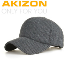 Akizon Invierno Tejer Gorra De Béisbol Unisex Gruesas Cálidas Gorra Sombrero para hombre