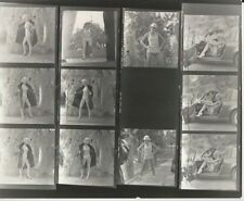 Hendrickson PHOTO Contact Sheet & Negatives Leggy Blonde Model Sexy Car Hardhat
