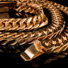 18K Rose Gold Plated CUBAN Miami Chain Stainless Steel MEN Womens Necklace 14mm