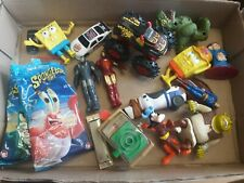 16 Burger King & Other Toy Lot Disney Superhero Shrek Iron Man Spongebob