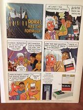 """1971 """"Has The Formula"""" Dora Cigarette - Mad Scientist-Comic Strip Print Ad"""