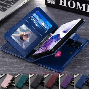 For Samsung S21 S20 S10 S9 Note 10 Plus Wallet Card Slot Flip Leather Case Cover