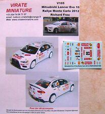 V105 Mitsubishi Lancer Evo 10 25° Rallye Monte Carlo 2012 Richard Frau Virate