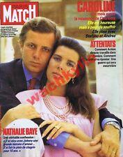 Paris Match n°1939 - 25/07/1986 Caroline de Monaco Casiraghi BRB Paris Décadence
