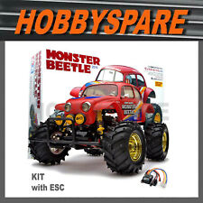 NEW TAMIYA 1/10 MONSTER BEETLE RC KIT with TBLE02 ESC 58618 RETRO OFFROAD BUGGY