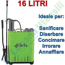 Atomizzatore Irroratore 16 Litri IRIS GARDEN Pompa a Spalla Sanificare Diserbare