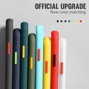 For iPhone 12 mini 11 Pro Max XS XR X 8 7 Matte Transparent Hard Slim Case Cover