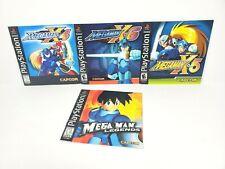 Playstation PS1 Mega Man Manual Lot X4 X5 X6 Legends Authentic Original Mega Man