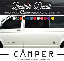 VW Camper Van Side Stripes Stickers  Decals T4 T5 T6 Transporter Vinyl Graphics