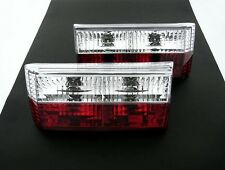 VW Rabbit Golf MK1 1 Cabrio Euro E-Code Red Crystal Clear Tail Lights Rear Lamp-