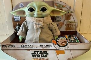 The CHILD Real MOVES Plush by Mattel Star Wars MANDALORIAN BABY YODA REMOTE HOT!