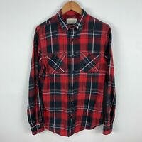 Ralph Lauren Mens Button Up Shirt Medium Red Plaid Long Sleeve Collared