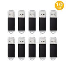 10PCS 1GB Rectangle Model USB 2.0 Flash Drive Memory Stick Lot10 Pen Drive Black