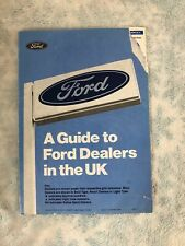 Vintage Ford Memorabilia - A Guide To Ford Dealers In The UK Issue 10 June 1983