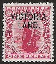 s822) NZL 1911 mit Aufdruck Victoria Land MiNr 2 ** zur Expedition Kapt R. Scott