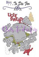Dies...to die for - metal cutting craft die Ugly Christmas Sweater party set