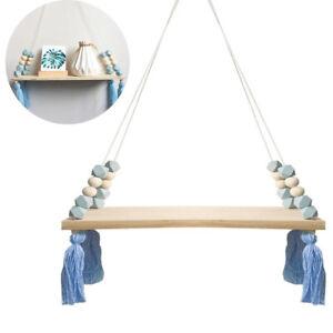 Creative Wall Hanging Tassel Shelf Clapboard Swing Rope Home Room Decoration