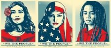 Shepard Fairey We The People Greater Defend UNSIGNED 24x36 Offset Art Print SET