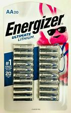ENERGIZER ULTIMATE LITHIUM AA SIZE BATTERIES 20 PACK EXP 2039 NEW FRESH GENUINE!