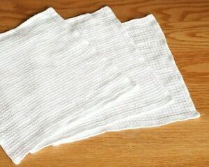 "100% Linen White Towel - Soft Waffle Linen Washcloth 12x12"" - Unpaper Towel"