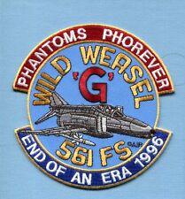 561st FS USAF McDONNELL F-4 G WILD WEASEL PHANTOM 1996 END OF ERA Squadron Patch