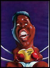 1972 Muhammad Ali Boxing Cartoon Caricature Drawing Vintage Magazine PRINT IMAGE