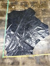 Italian Cowhide leather skin Rustic Dark Blue Purple 30''by30'' Inches 1mm 2 oz
