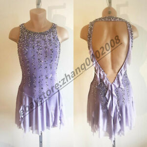 Sparkles Ice Figure Skating Dress/Baton Twirling Costume/Ballroon Dance Dress