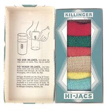 Vintage Killinger Hi-Jacs King of Coasters Marion VA Early Primitive Koozies!!