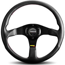 MOMO TUNER STEERING WHEEL: 320mm (BLACK W/ RED STITCHING) TUN32BK0B