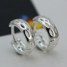 925 Silver Filled Unique Design Hollow Buckle Stud Earrings Marriage Bridal Gift