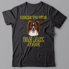PAPILLION dog T-shirt COME TO THE BARK SIDE - dark side we have cookies