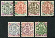 Rhodesia 1897 ½d-8d SG 66-72 hinged mint (cat. £164)
