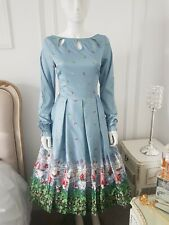 Laurel Holly and Ivy Vintage Dress Lindy Bop RARE Scenic Unique Size 24 NEW BNWT