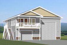 36x40 Apartment with 1-Car 1-RV Garage -- 902 sqft -- PDF Floor Plan -- Model 1D