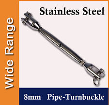 8mm Stainless Steel Pipe-Turnbuckle for Shade Sail, Boat