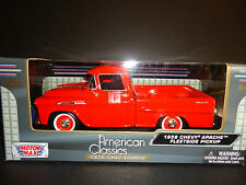 Motormax Chevrolet Apache Fleetside Pickup 1958 Orange 1/24