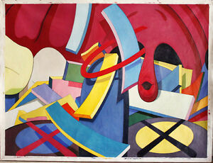 Large POP art Repro abstract oil painting on canvas Pretty On The Inside 68x90in