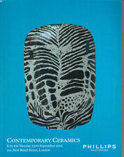 PHILLIPS CONTEMPORARY CERAMICS Coper Hamada Leach Rie Ward Catalog 2001