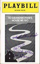 TO GRANDMOTHER'S HOUSE WE GO Playbill Signed Shepperd Strudwick, Kim Hunter, +2