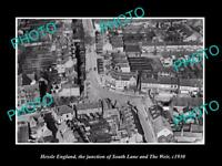 OLD LARGE HISTORIC PHOTO OF HESSLE ENGLAND, THE SOUTH LANE & THE WEIR c1930