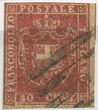 ASI0005f TOSCANA 1860 emissione in centesimi e lire -40cent carminio n.21 usato