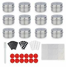 Spice Jars Magnetic Containers Large Tins Wall Mount Seasoning Rack With Clear T