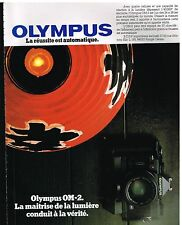 Publicité Advertising 1982 Appareil photo Olympus OM-2