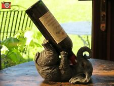 A CHARMING WINE BOTTLE HOLDER RACK ELEPHANT GUZZLER. GREAT GIFT