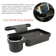 Car Rear Back Seat Table Snack Drink Food Cup Tray Holder Desk Stand Mount Trim