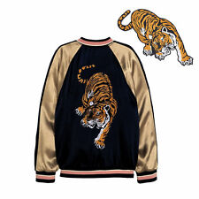 Tiger Big Cat Embroidered Sew Iron On Patch Applique Badge Lion Panther 2017